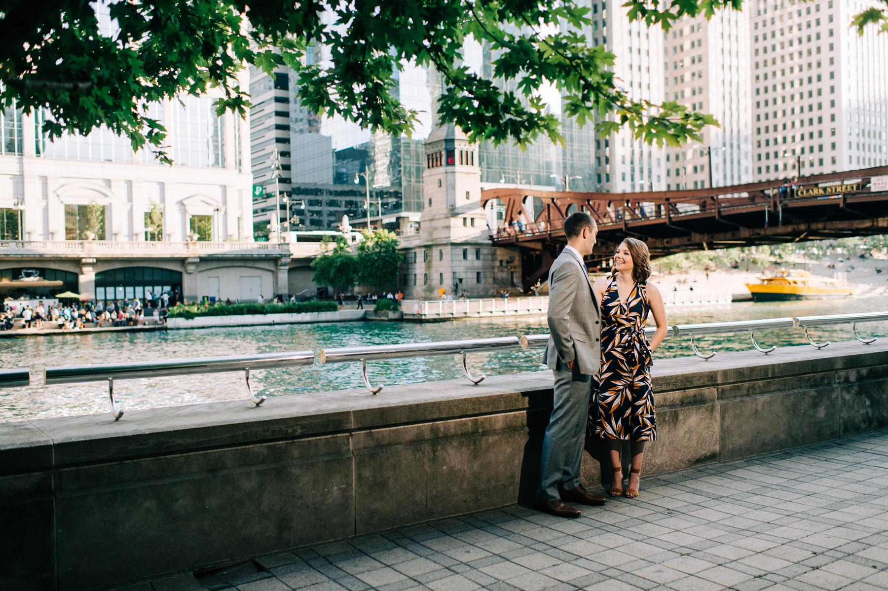 Chicago Riverwalk Engagement
