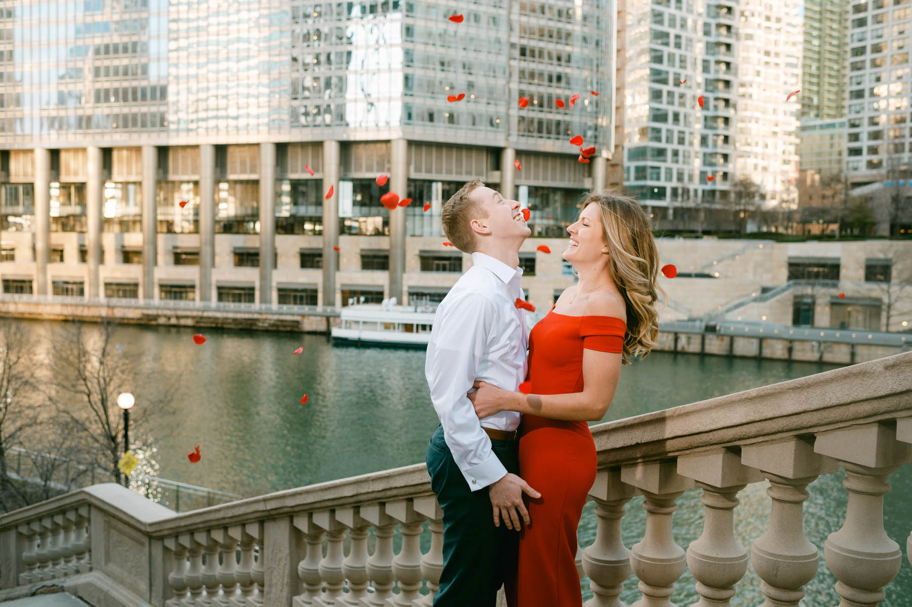 Michigan Avenue Engagement