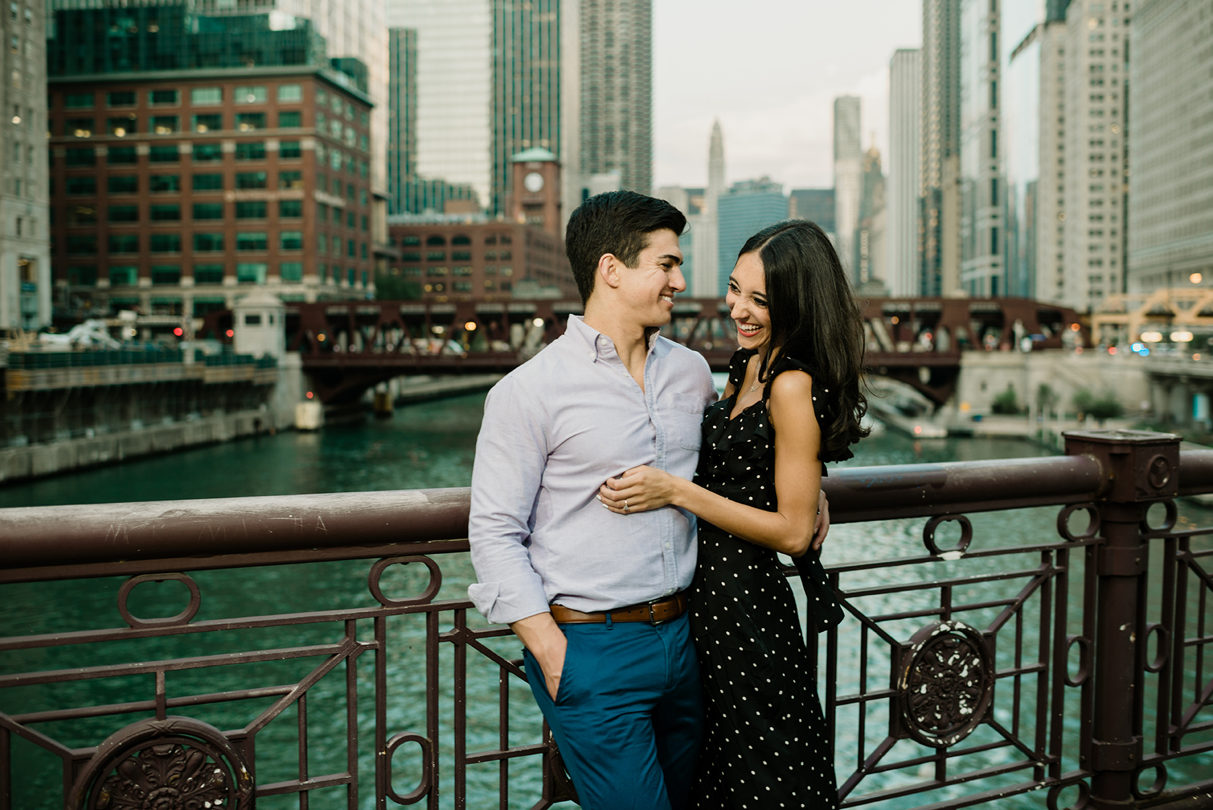 Chicago Riverwalk Engagement
