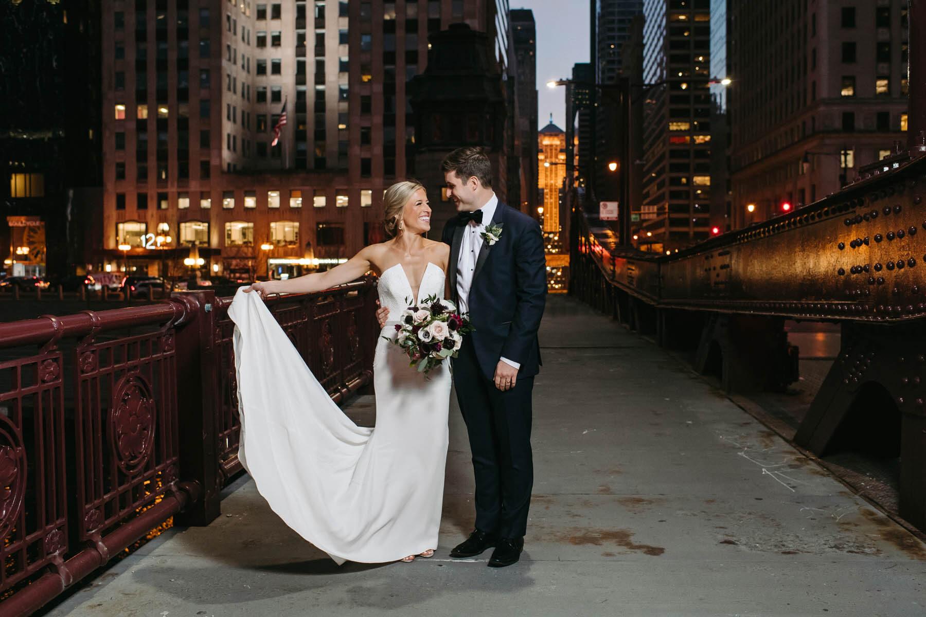 Chicago Bridge Wedding