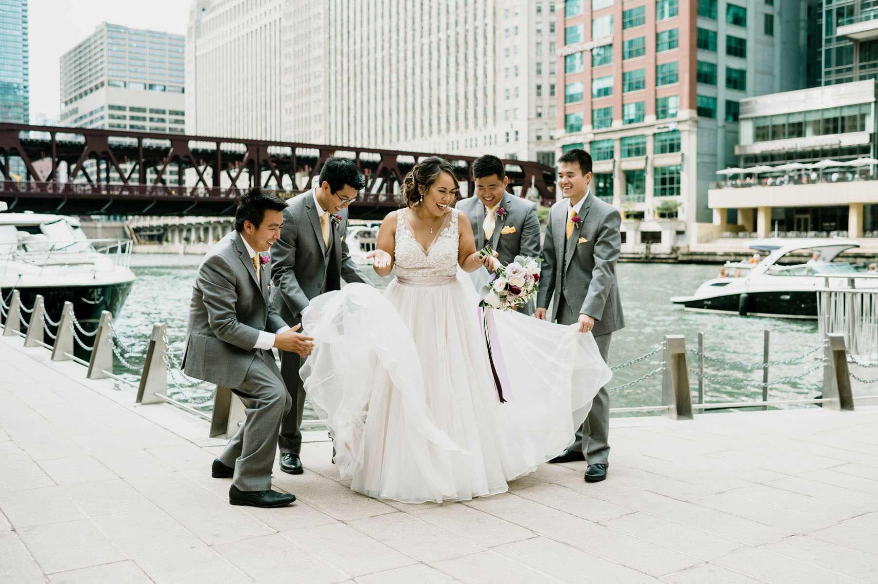 Chicago Riverwalk Wedding