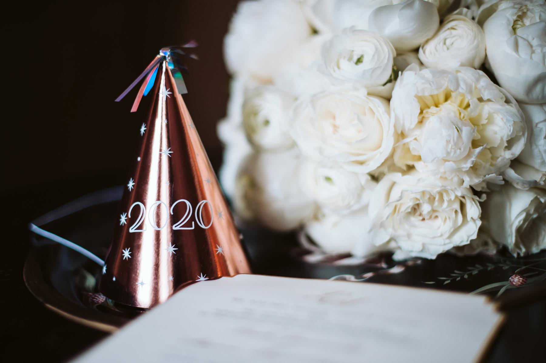 Wedding invitation New Year's Eve