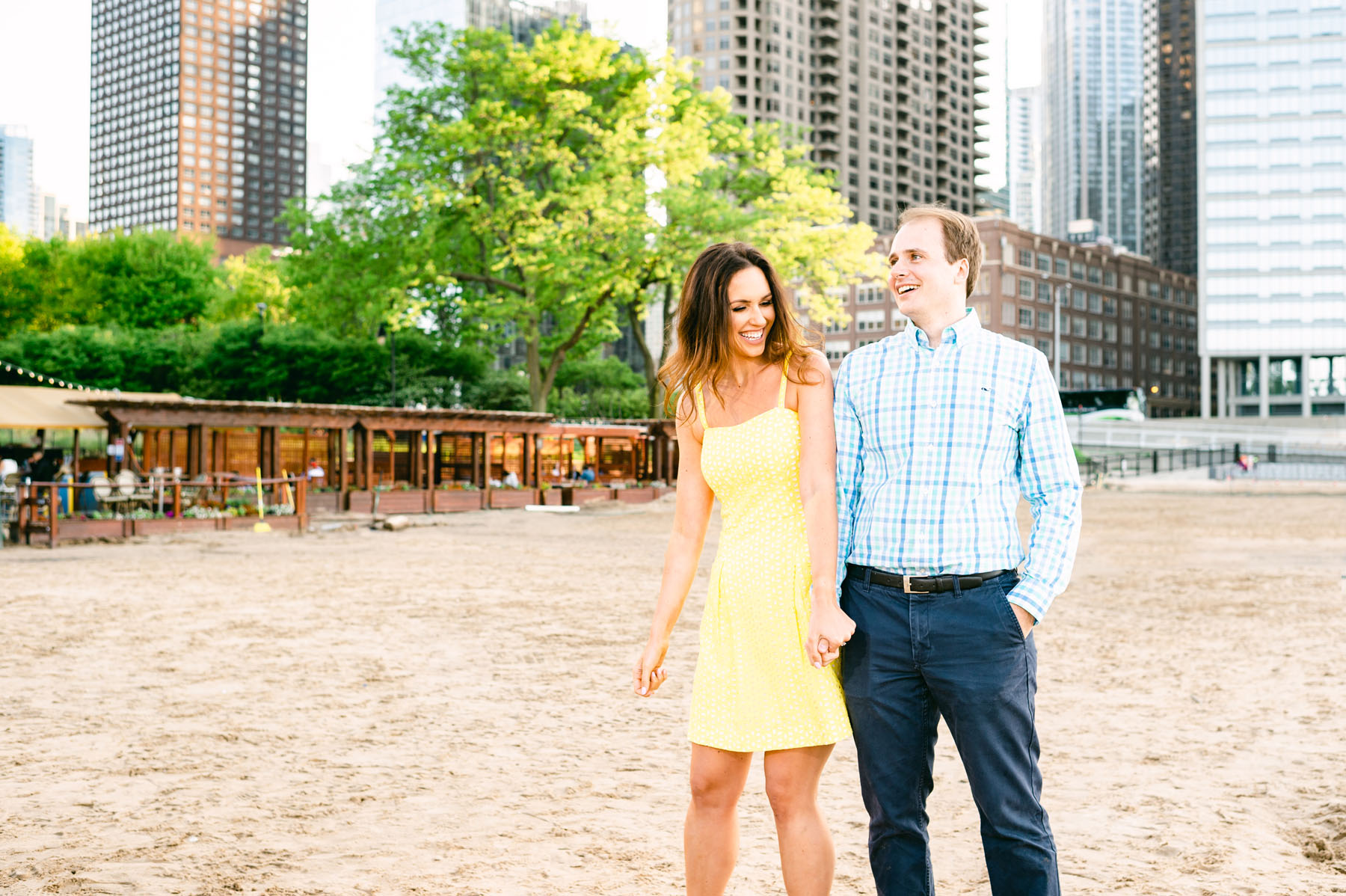 Oak Street Beach Engagement Photo