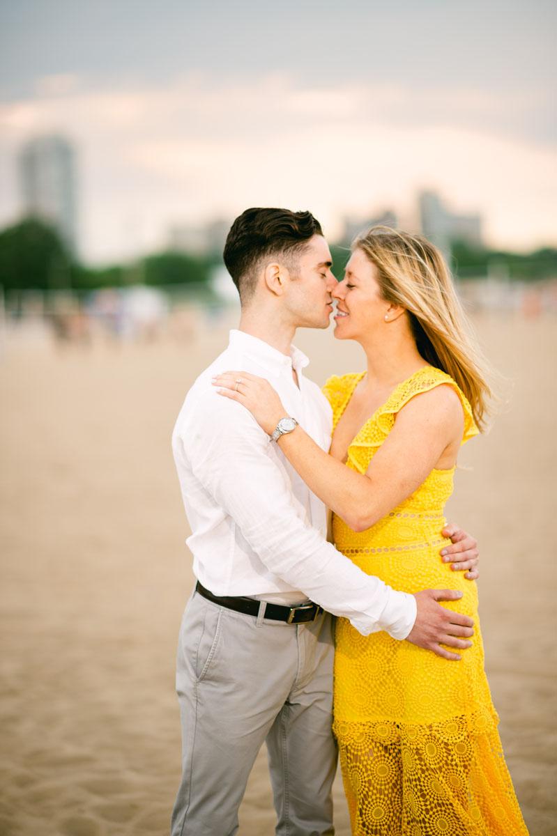 North Avenue Beach Engagement Photo