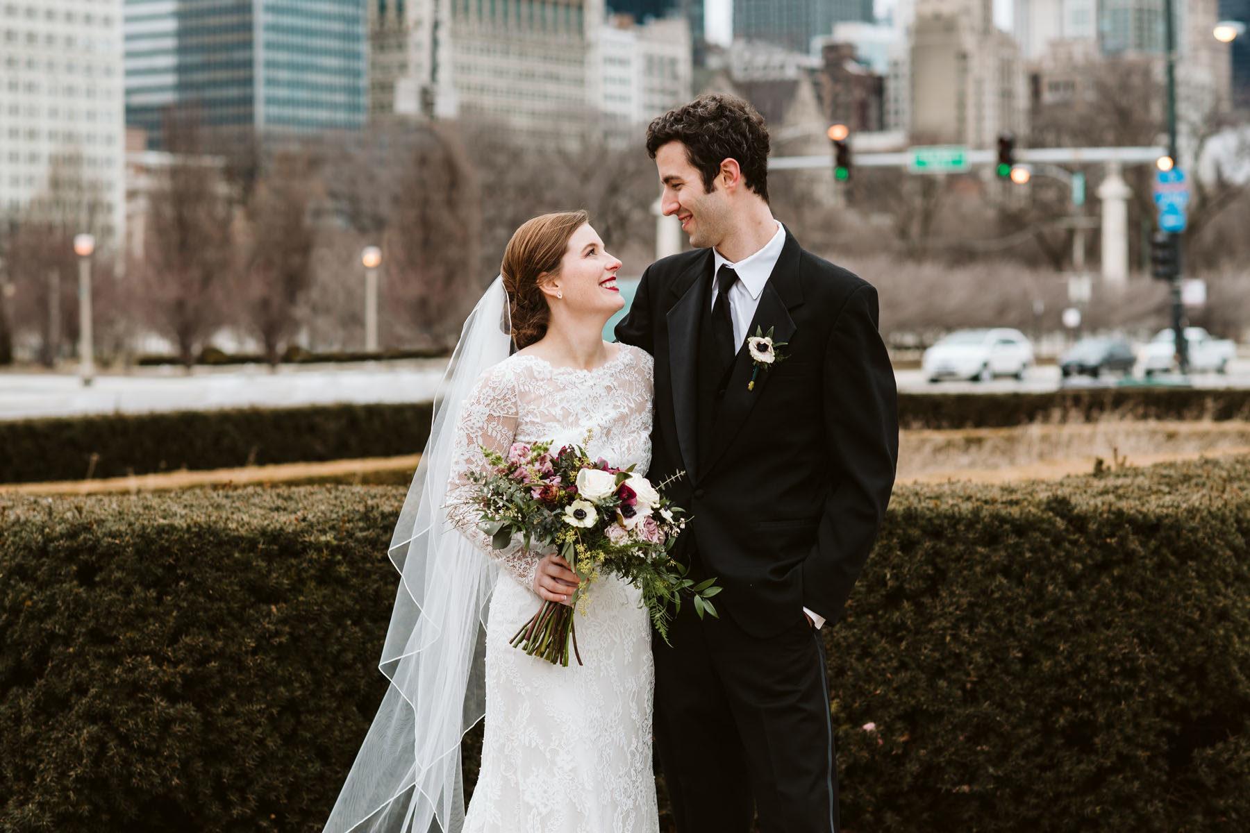 Chicago Grant Park Wedding, Chicago Winter Wedding