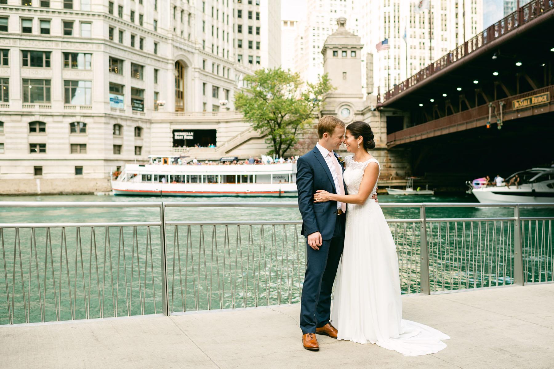 Chicago Wrigley Building Wedding