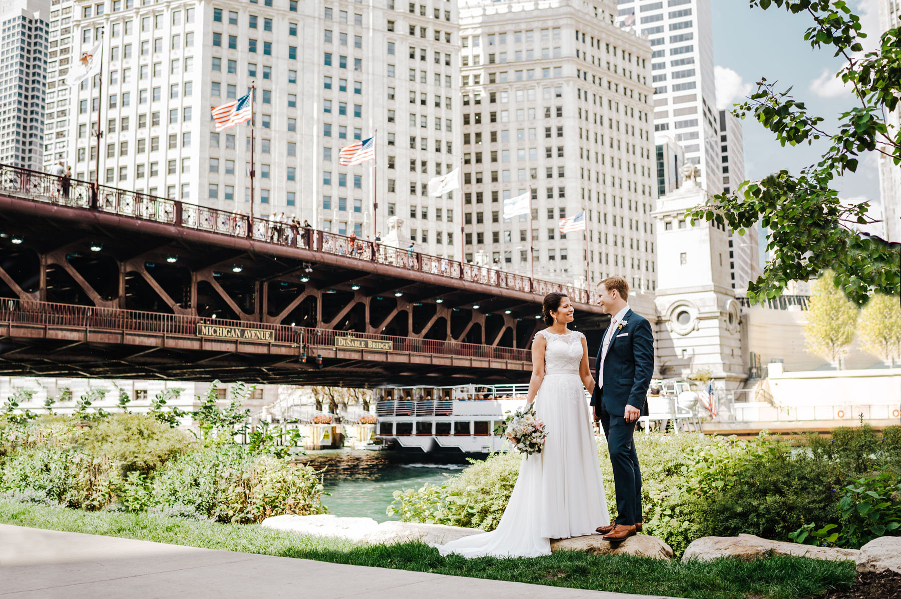 Chicago Wrigley Building Wedding
