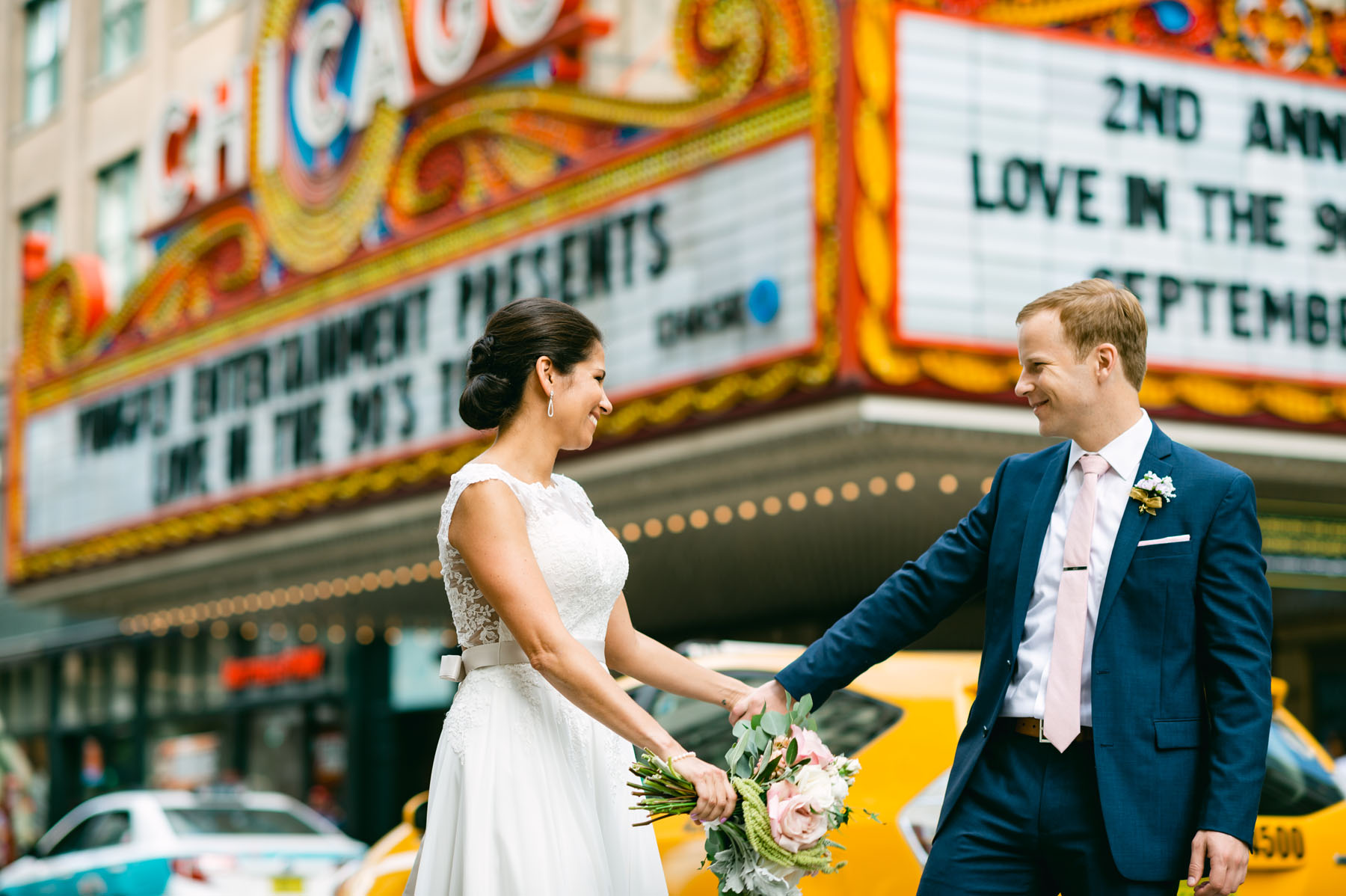Chicago Theater Wedding