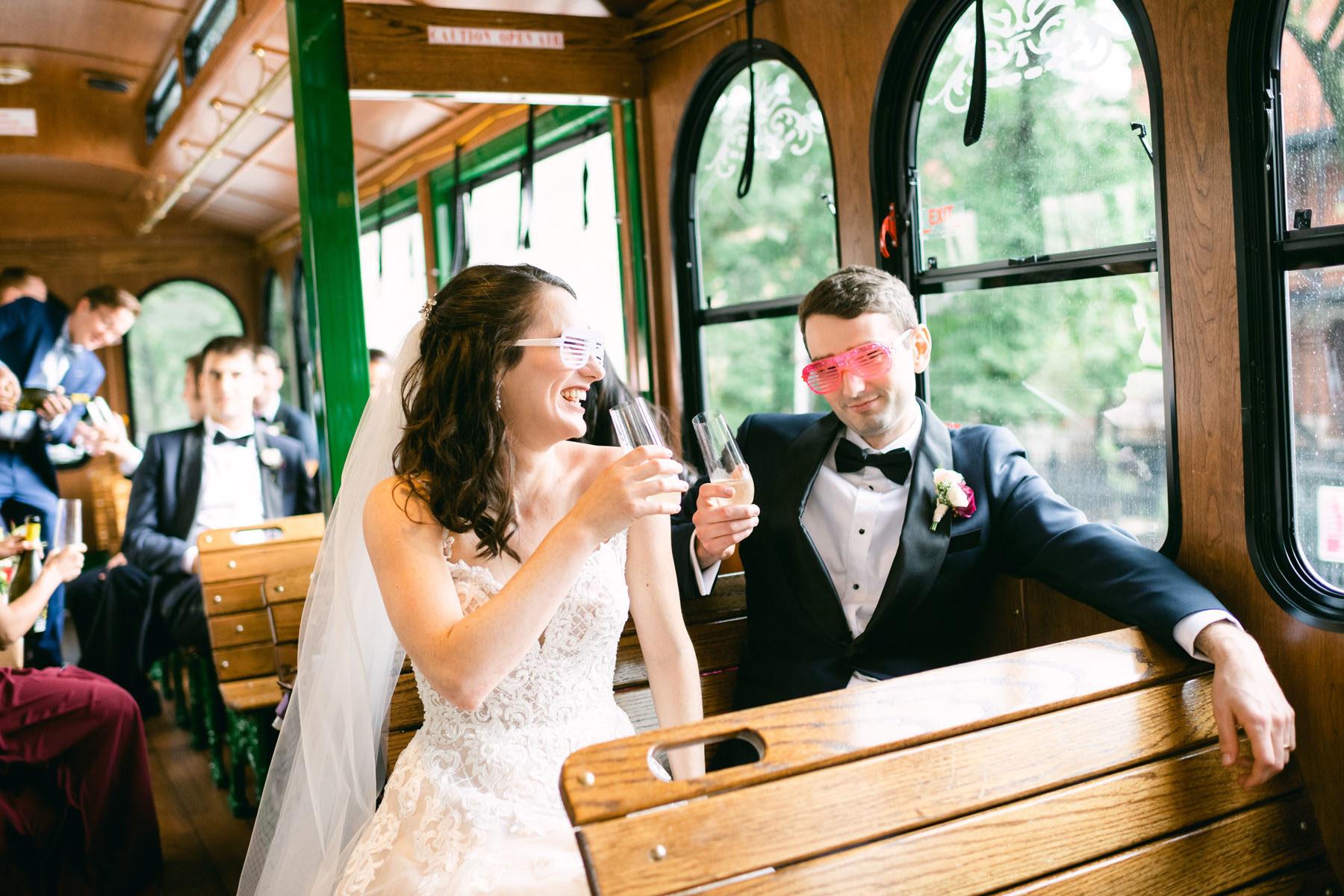 Chicago Trolley Wedding