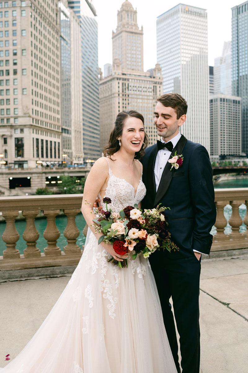 Wrigley Building Wedding Photo