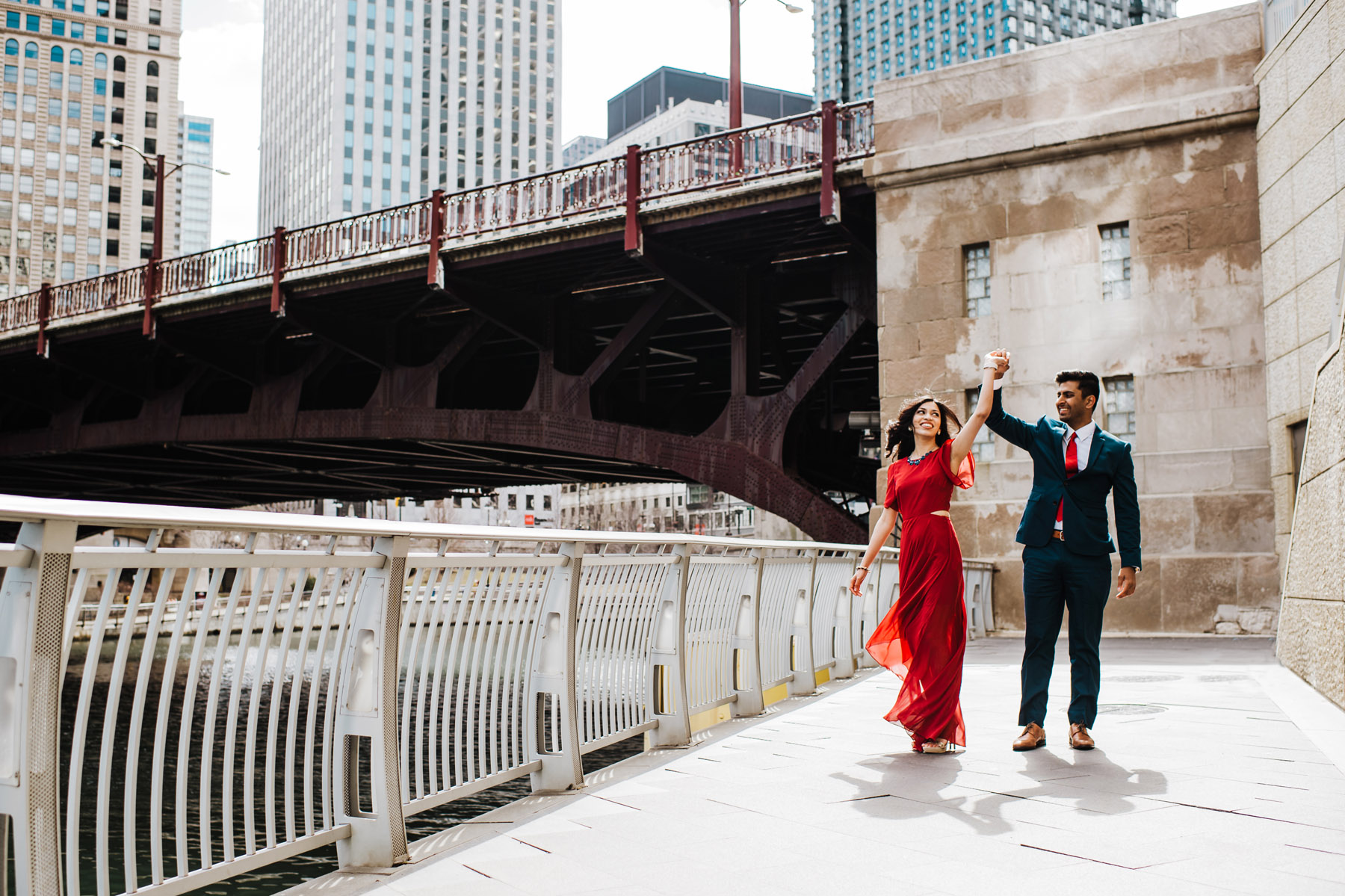 Chicago Bridge Engagement