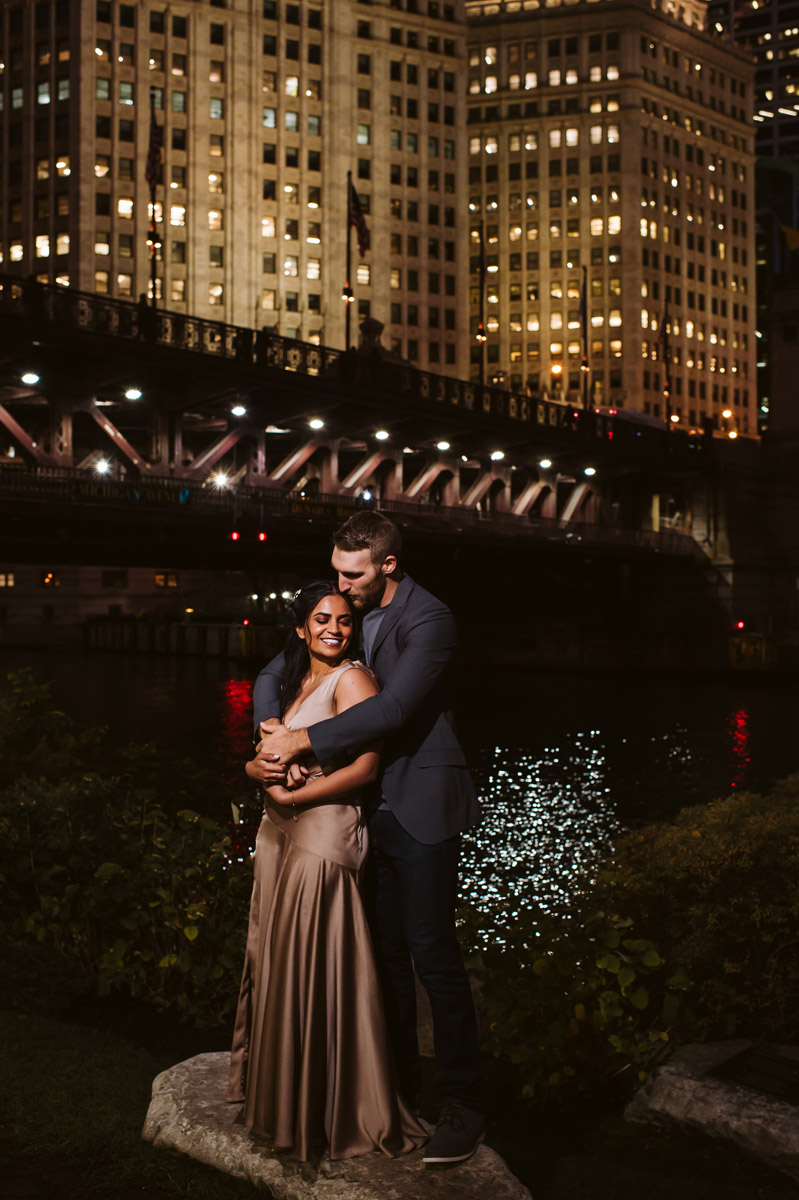 Chicago Night Engagement