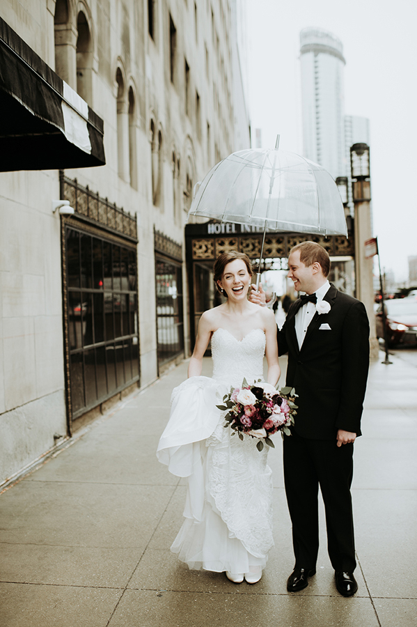 Rainy Day Wedding Chicago
