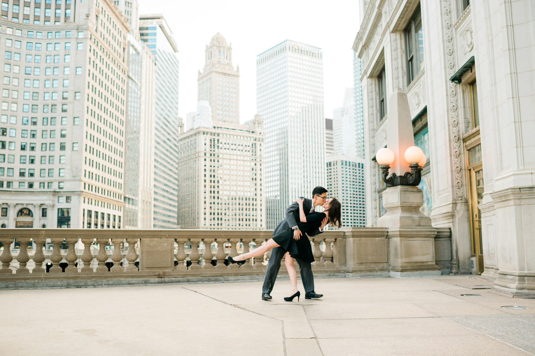 Wrigley Building Engagement Photo
