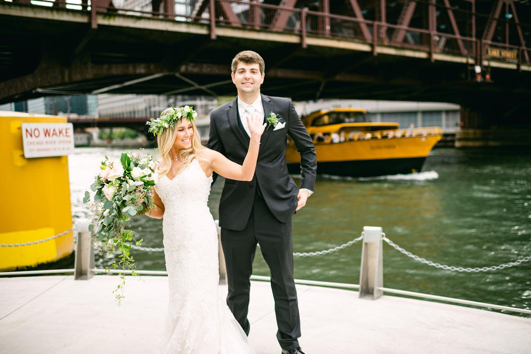 Chicago Riverwalk Wedding Photo
