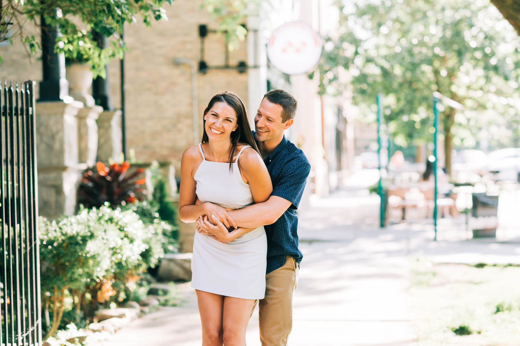 Logan Square Engagement Photos