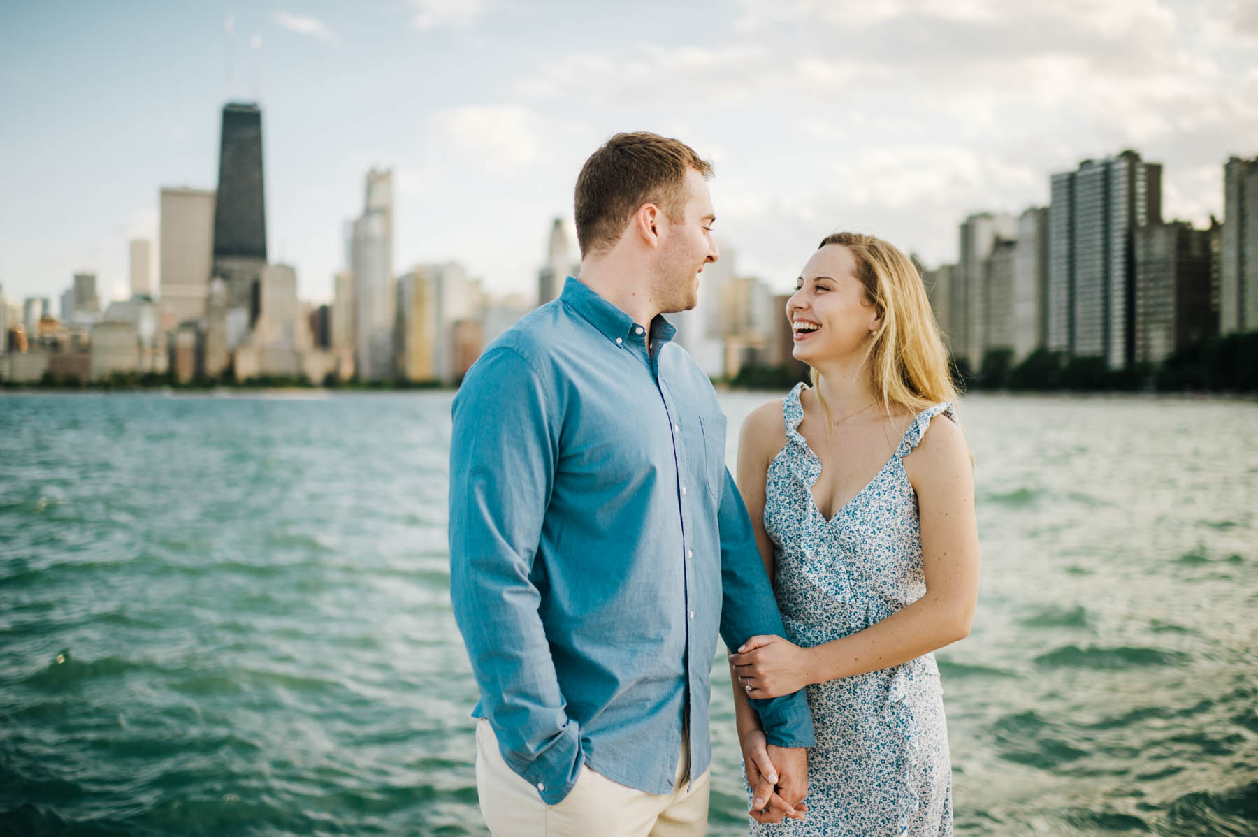 Chicago Lakefront Engagement Photos