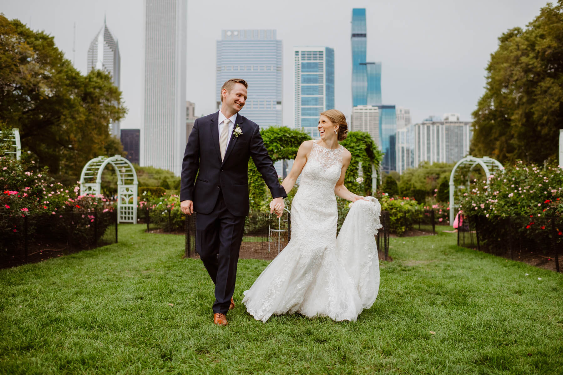 Grant Park wedding photo
