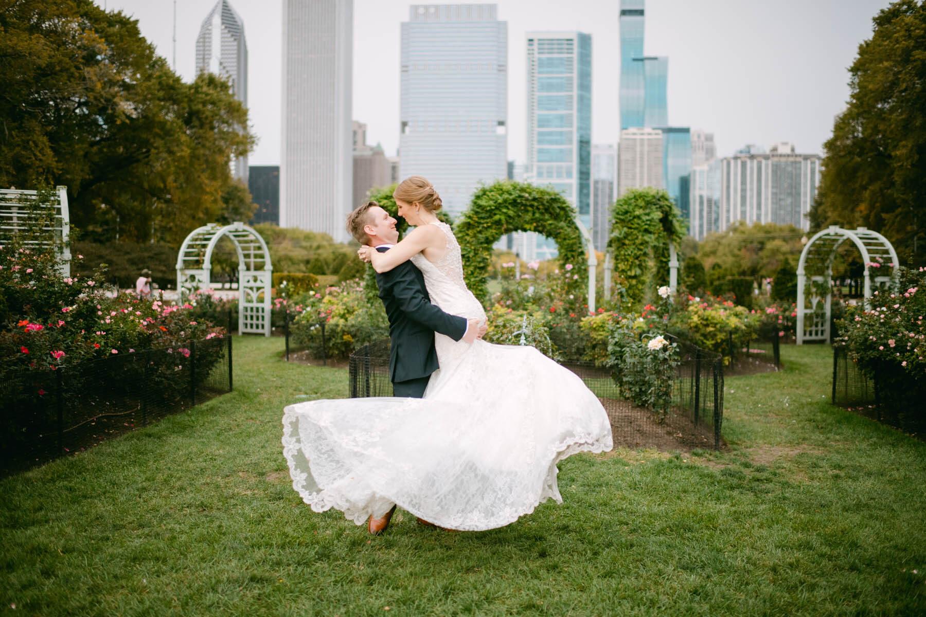 grant park wedding photo