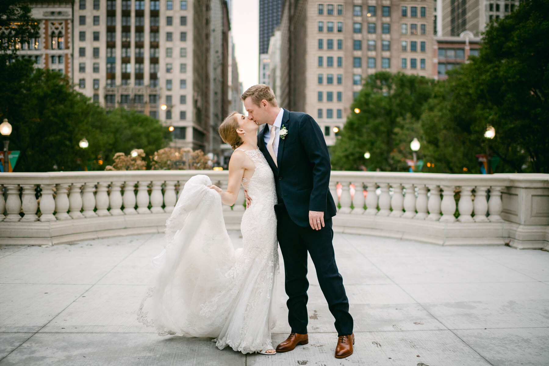millennium park wedding photo