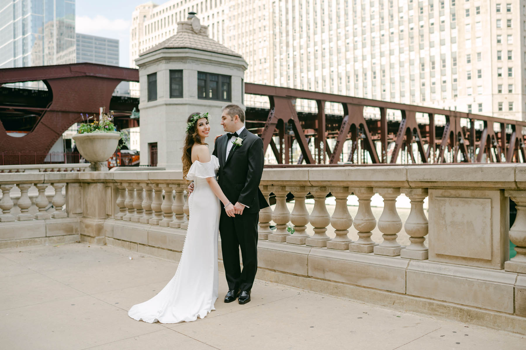 Chicago Bridge Wedding
