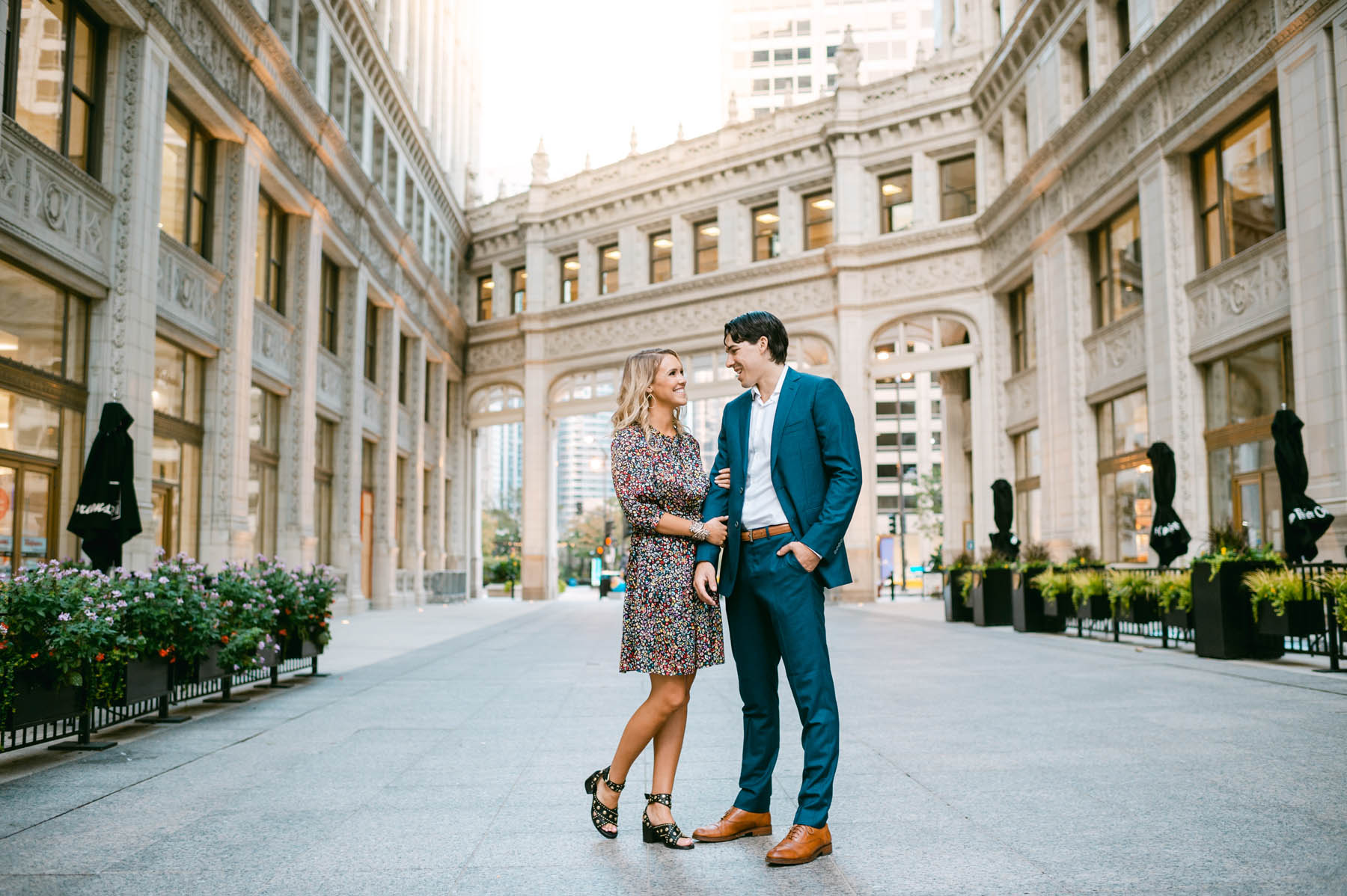 Wrigley Building Engagement Photo