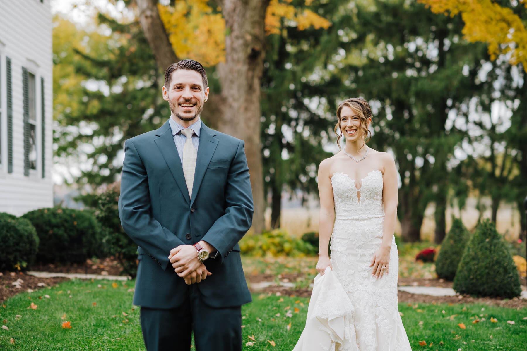 bride + groom first look