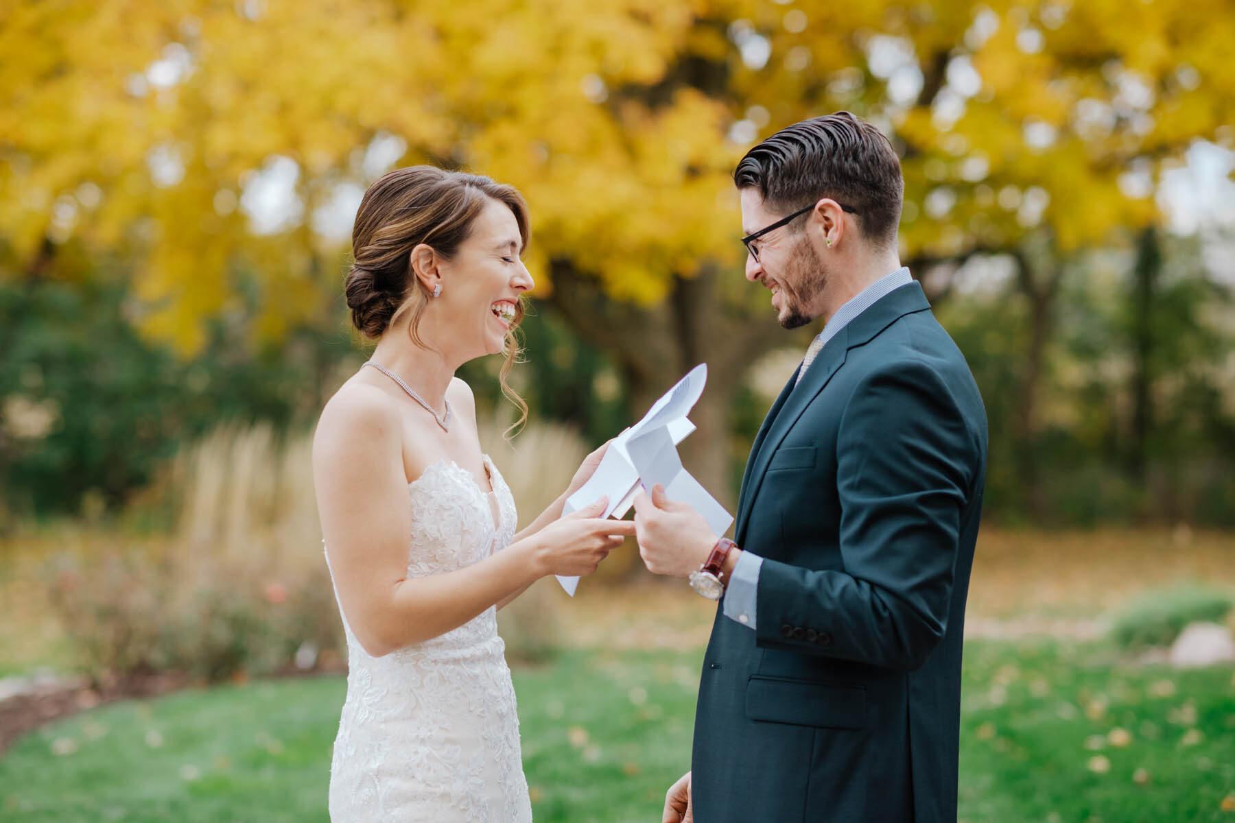 bride + groom letters