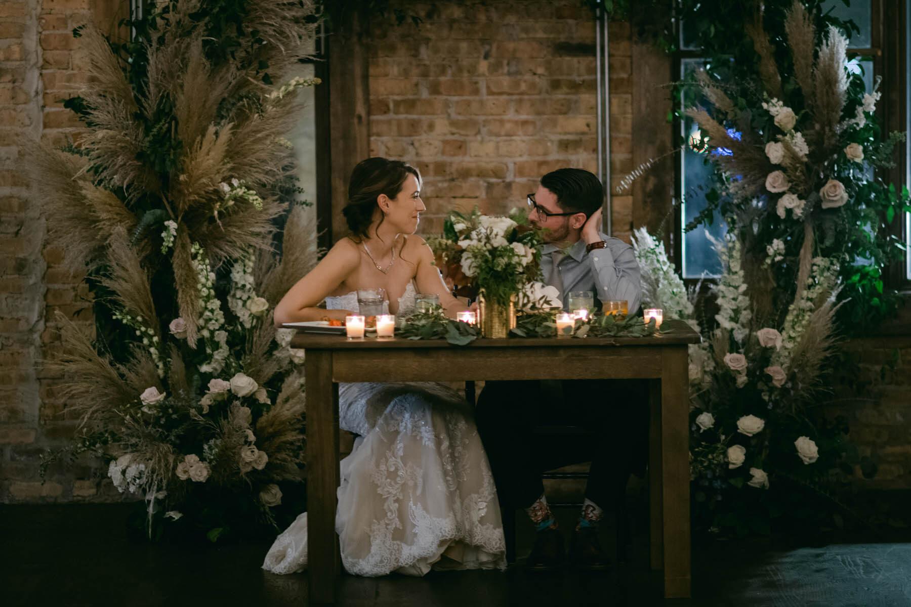 bride + groom dinner