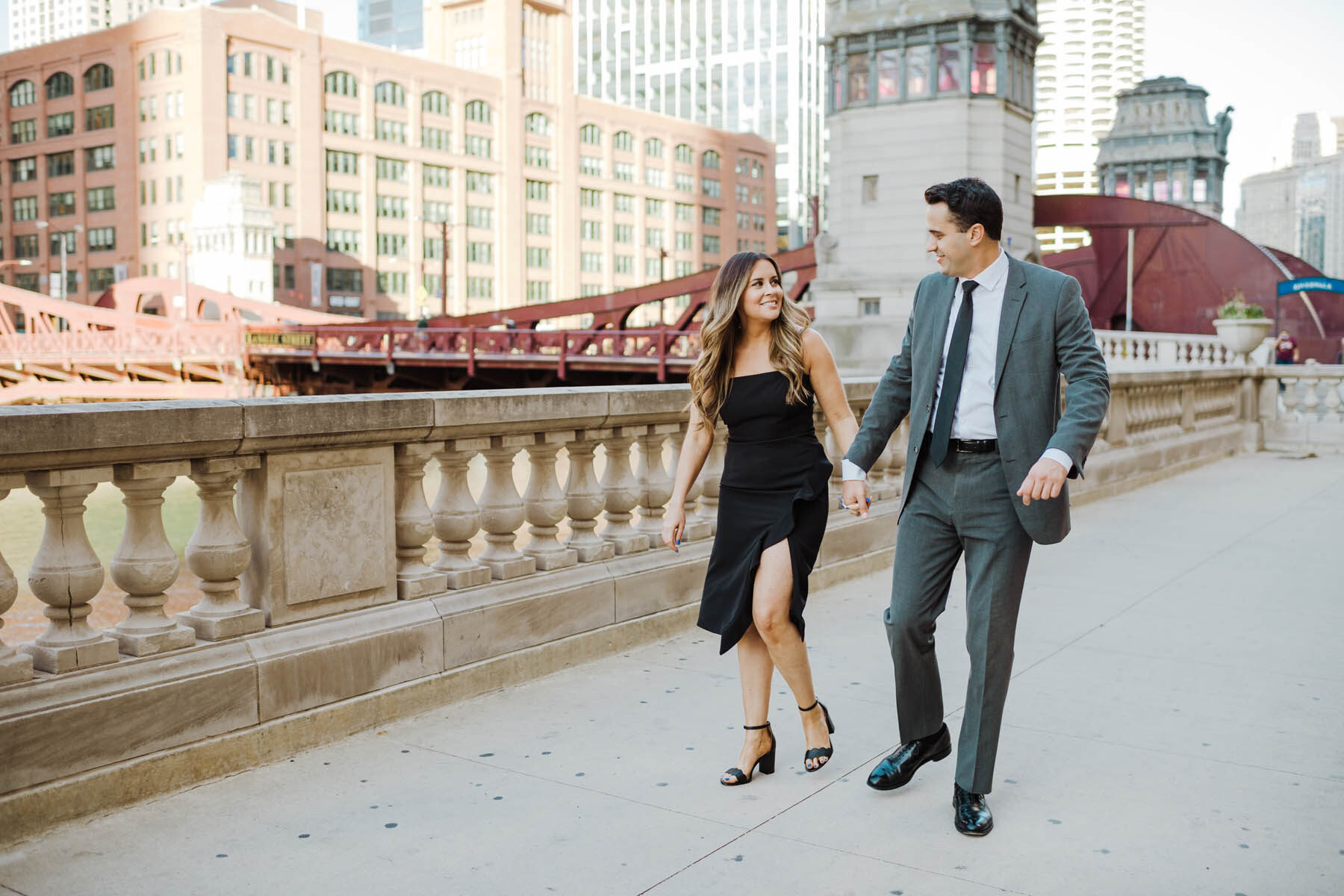 Chicago Summer Engagement Photo