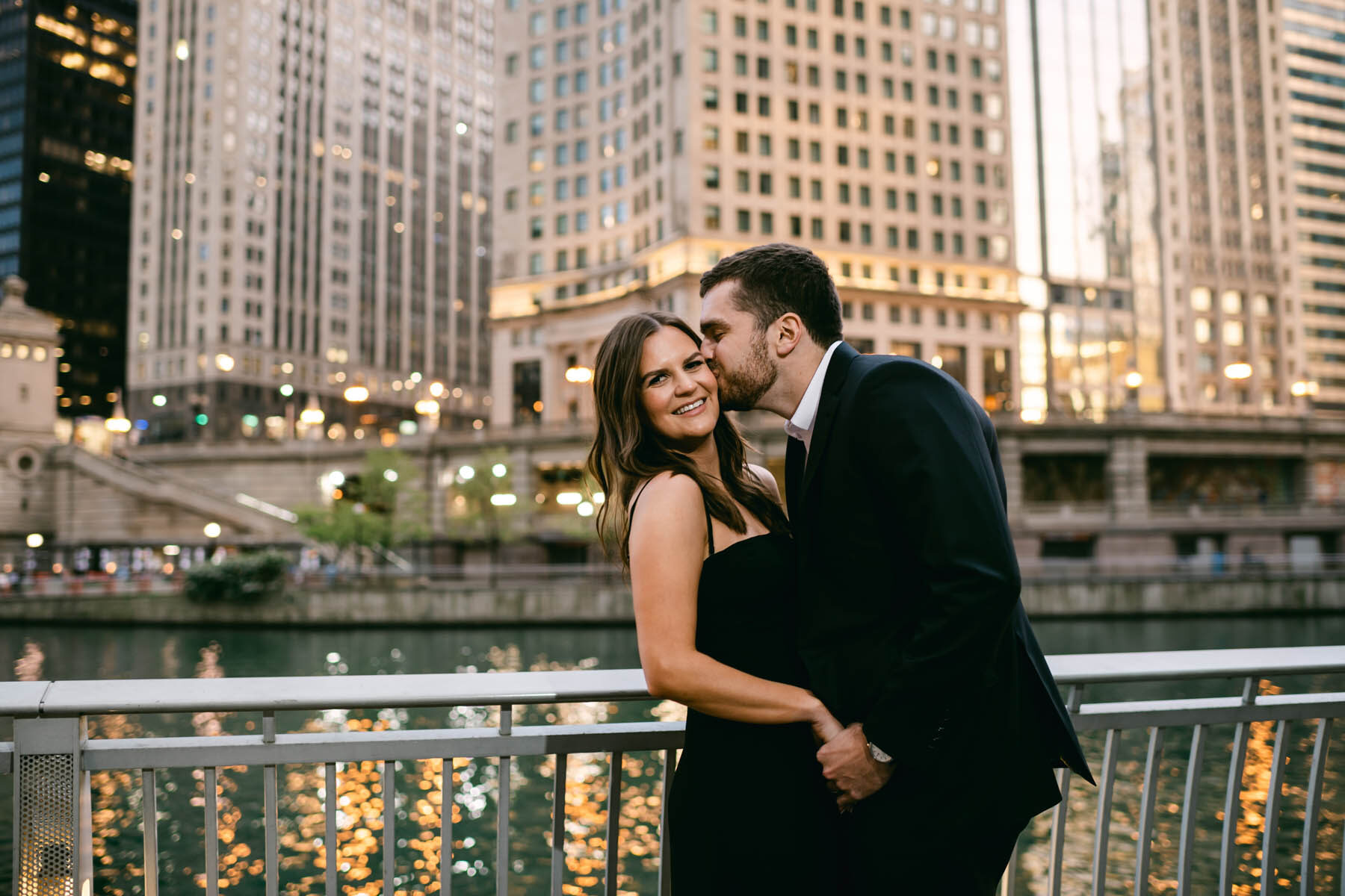 Chicago Night Engagement