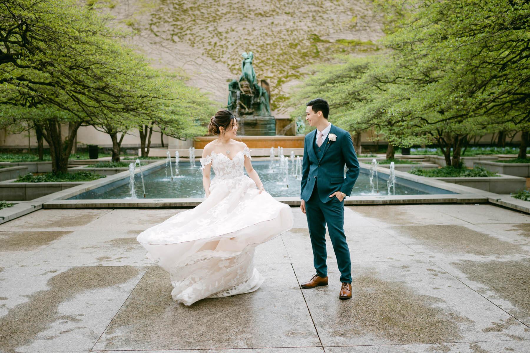 Art Institute dancing bride