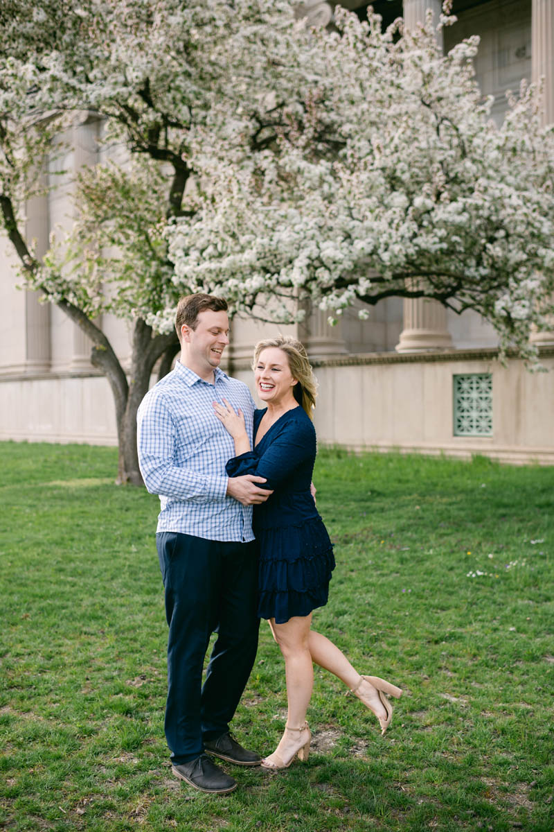 Cherry Blossom Engagement