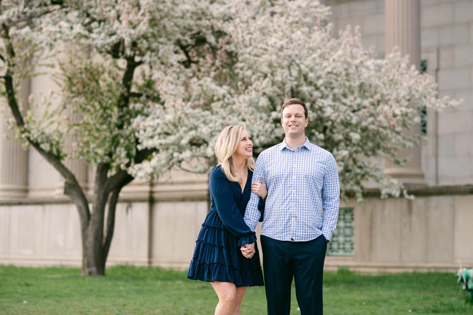 Chicago Cherry Blossom Engagement