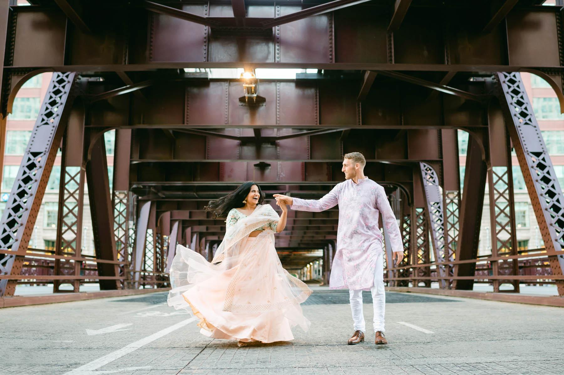 Chicago Bridge Engagement