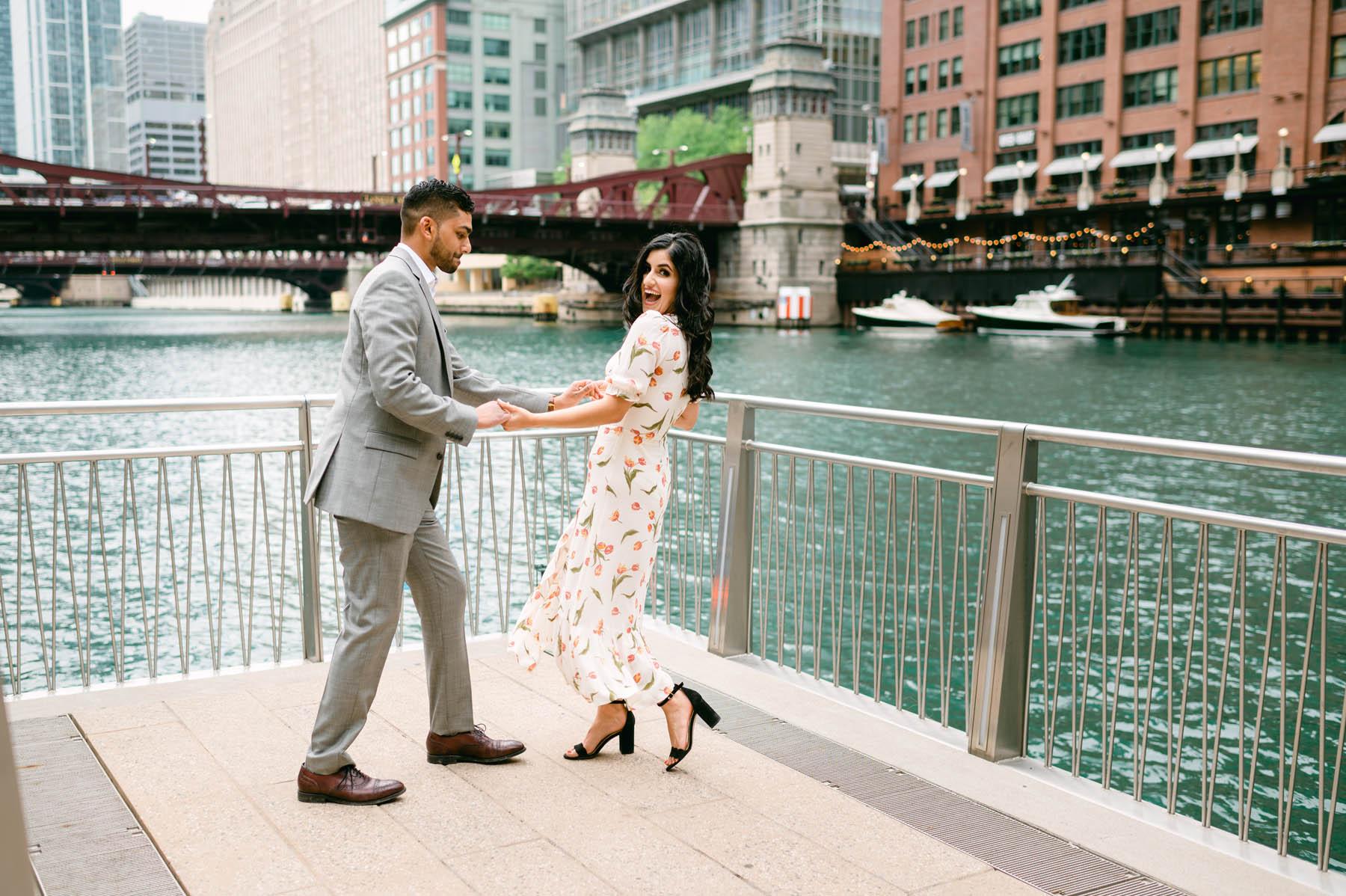 Dancing on the Chicago Riverwalk
