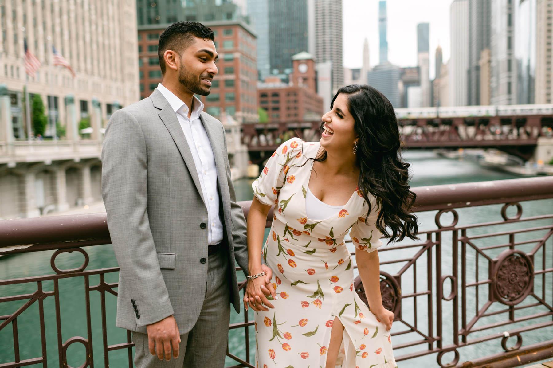 Engagement Chicago Bridge