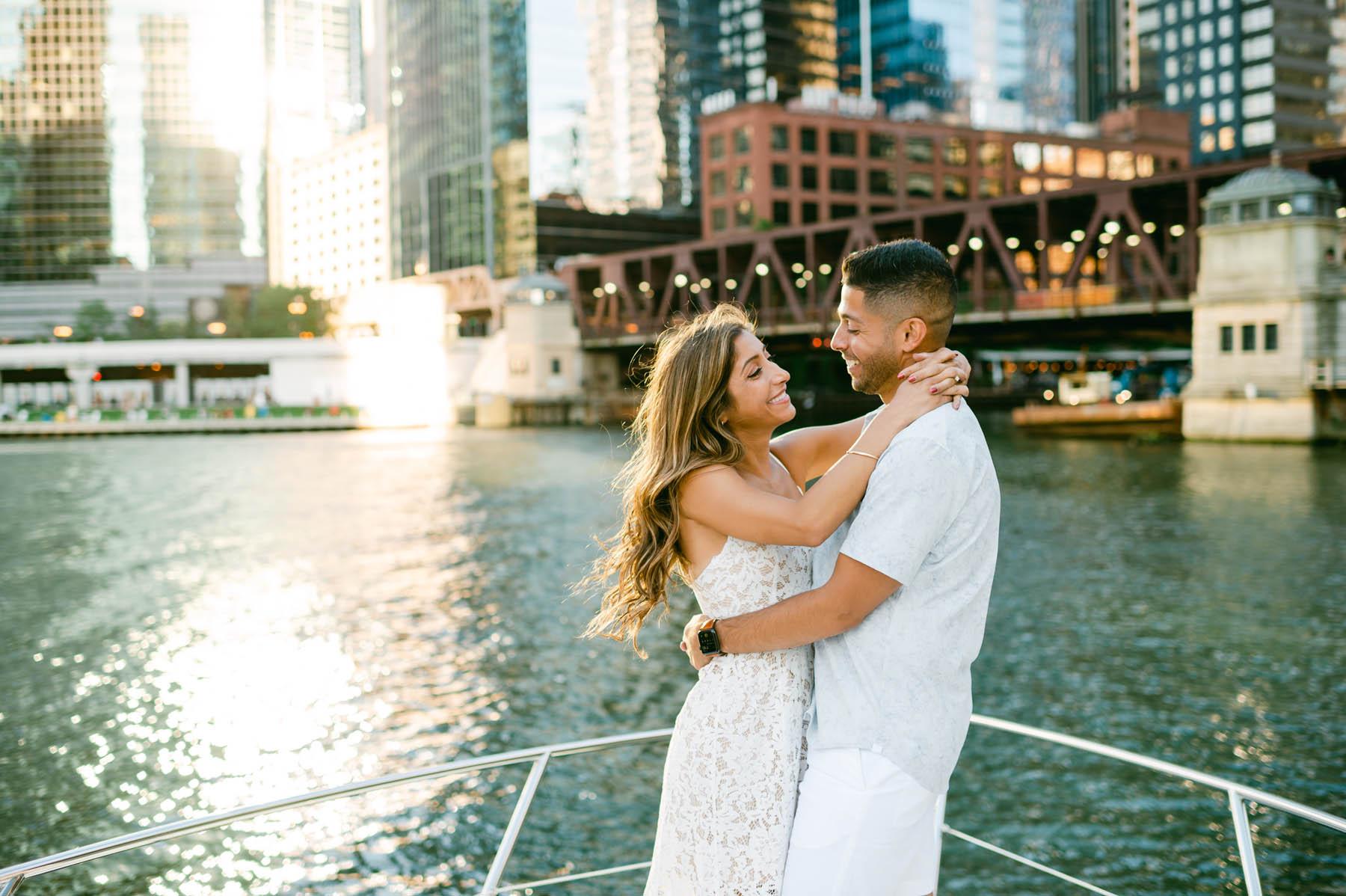 chicago boat engagement