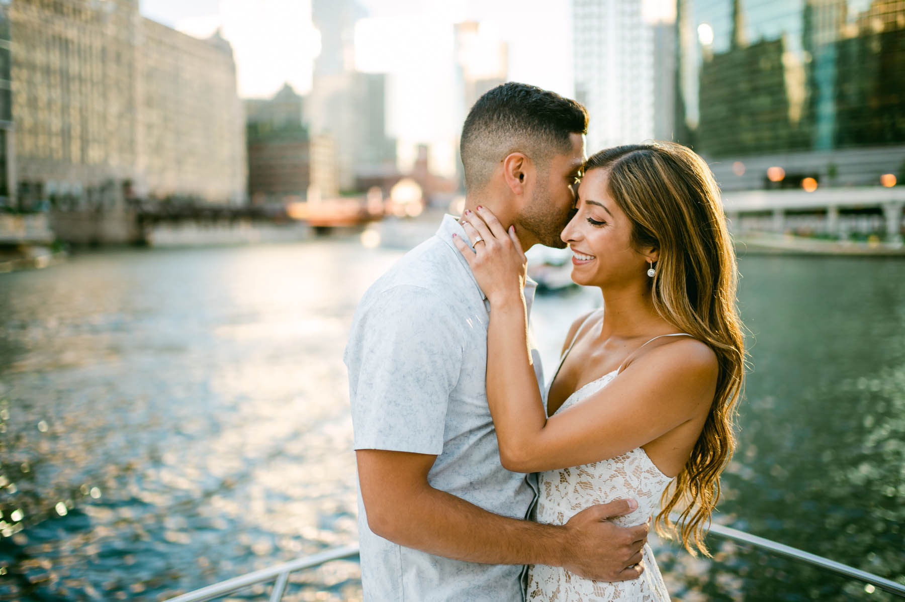 romantic engagement shoot