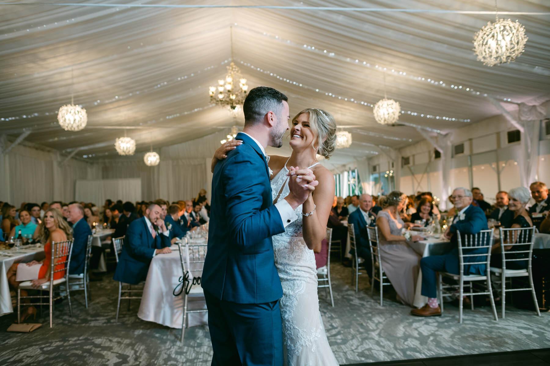 Monte Bello wedding first dance