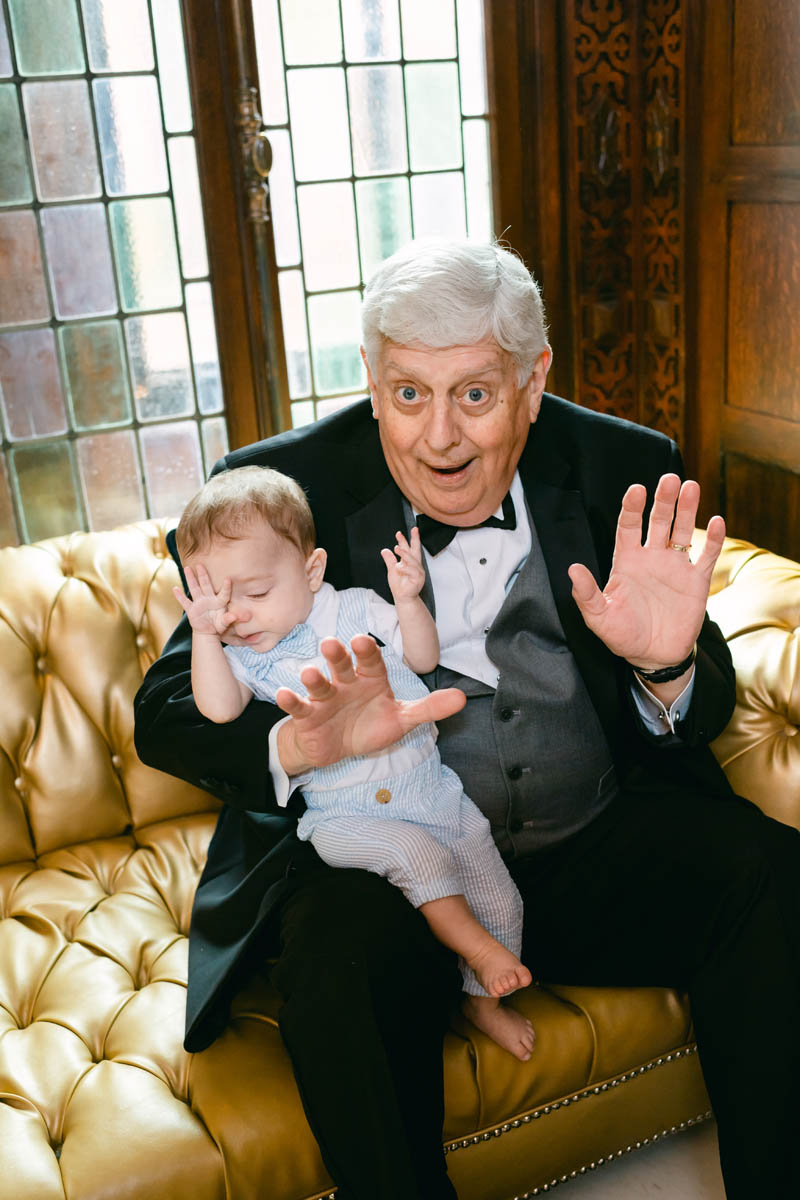 funny grandpa with grandson