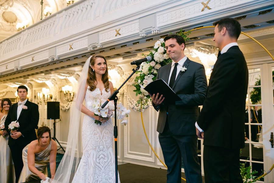 Blackstone Hotel wedding ceremony