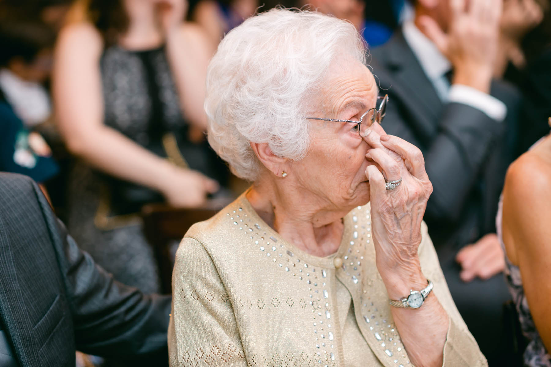 tearful grandmother