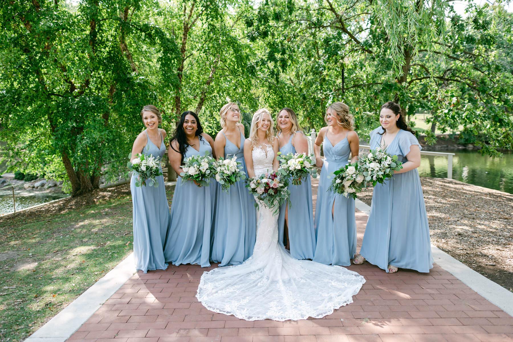 Lord's Park wedding bridesmaids