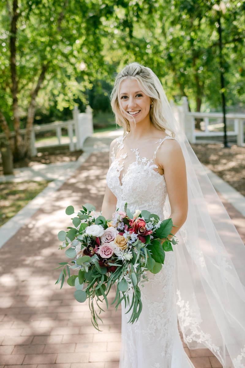 summer bride portrait